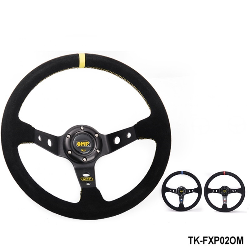 Modified steering wheel Suede leather steering wheel automobile race steering wheel TK-FXP02OM forever sharp a01 56p steering wheel adapter 5 6 hole billet alum