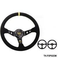 Tanksyturbo Modified Steering Wheel Suede Leather Steering Wheel Automobile Race Steering Wheel Steering Wheel TK FXP02OM