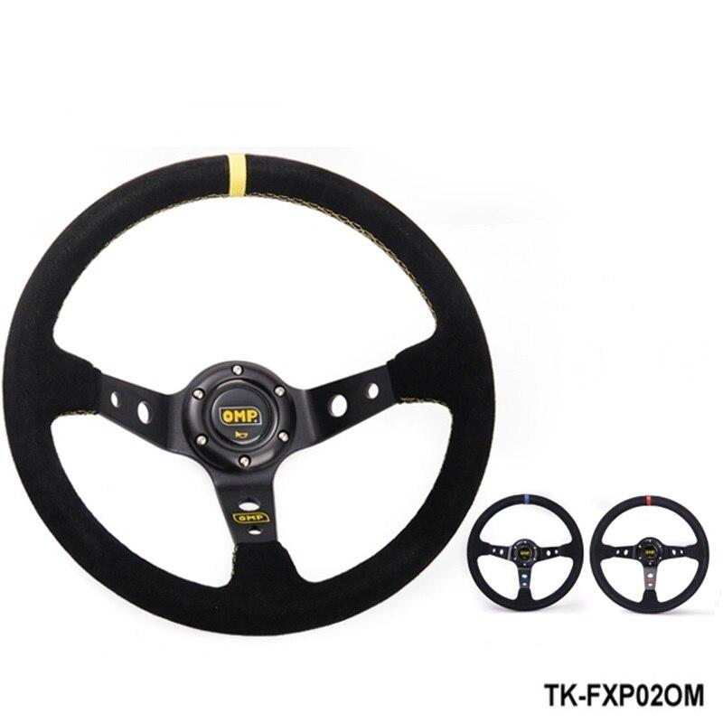 Suede volante em couro volante modificada automóvel roda de corrida volante TK-FXP02OM