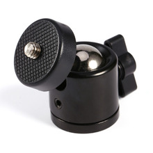 "Black Color 360 Degree Mini Tripod Ball Head Ballhead 1/4""Screw Mount Stand DSLR DV Camera DSLR Camera Accessories"