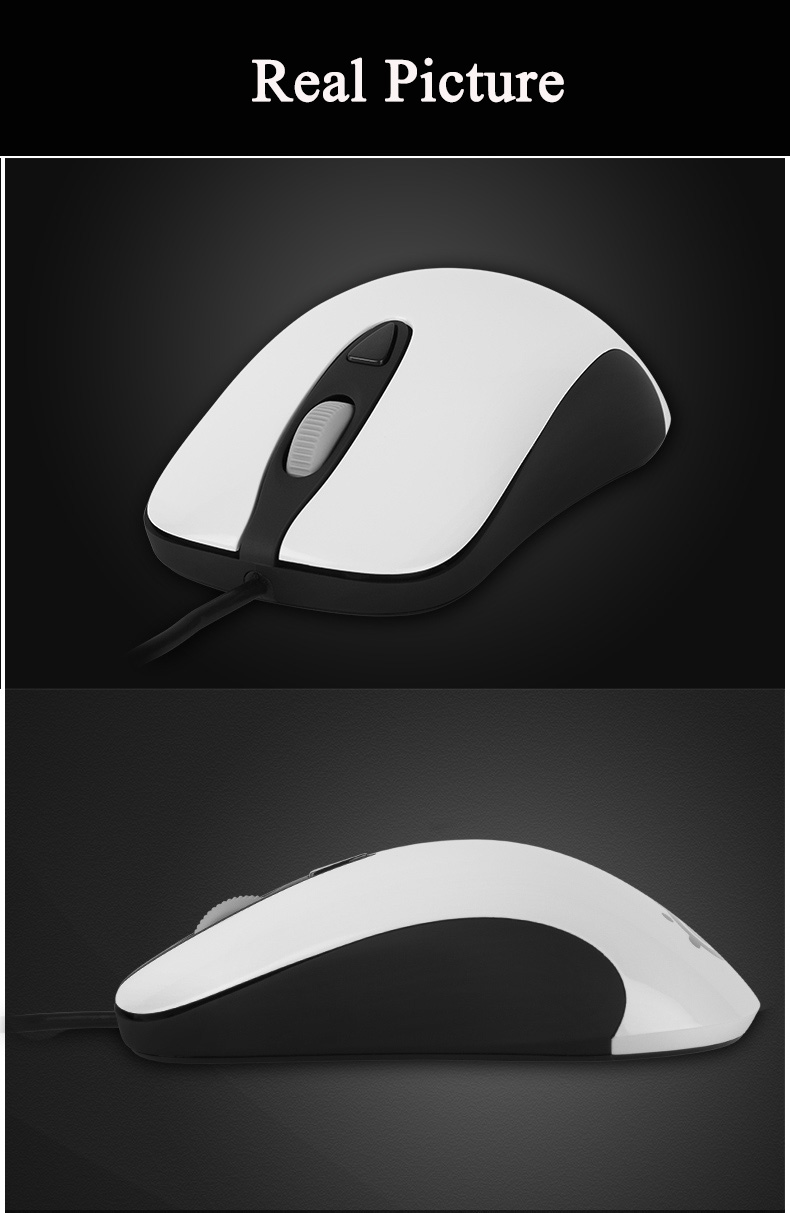 100% Original Steelseries KINZU V3 Optical Gaming mouse,4000 DPI,Performance 4 Buttons USB Wired Computer Mice White 2