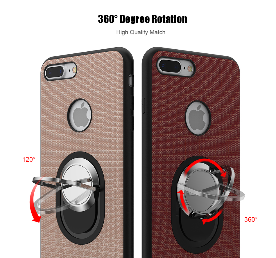 Soft Magnetic i 7 6 6S Plus 5 5S Phone Case For iPhone 7 6 6S Plus 5 5S SE 5G Case Luxury 360 Ring Holder For iPhone 7 6 Cover (4)