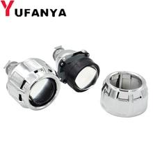2.5 Polegada bixenon hid lente do projetor prata mortalha para h4 h7 modelo de carro da motocicleta farol estilo uso h1 xenon lâmpada