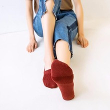 Candy Colors Women Ankle Socks Funny Cute Solid color Plush Boat Socks Womens Lady Girl Art Sock Short Sox