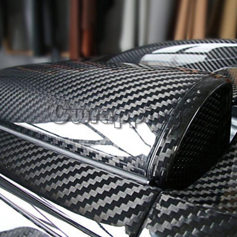 Супер качество ультра блеск 5D углеродное волокно виниловая пленка большая текстура супер глянцевая 5D углеродная пленка с размером 50 см * 150 ...