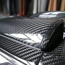Super jakość Ultra Gloss 5D włókno węglowe winyl Wrap duża tekstura Super błyszczący 5D Carbon film o rozmiarze 50cm * 150cm 200cm 300cm tanie tanio Naklejki Naklejka klejąca w cwrapping Kreatywne naklejki Całe ciało Zmiana koloru CM-01 Dostarczany w opakowaniach włókno węglowe 5D