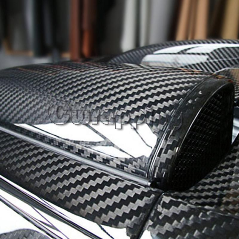 Super qualidade ultra gloss 5d fibra de carbono envoltório de vinil grande textura super brilhante 5d filme de carbono com tamanho 50cm * 150 cm/200 cm/300 cm