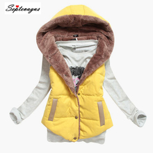 Для женщин зима жилетка, куртка-безрукавка теплый хлопковый жилет с капюшоном плюс Размеры женский жилет пальто для Для женщин; chaleco mujer