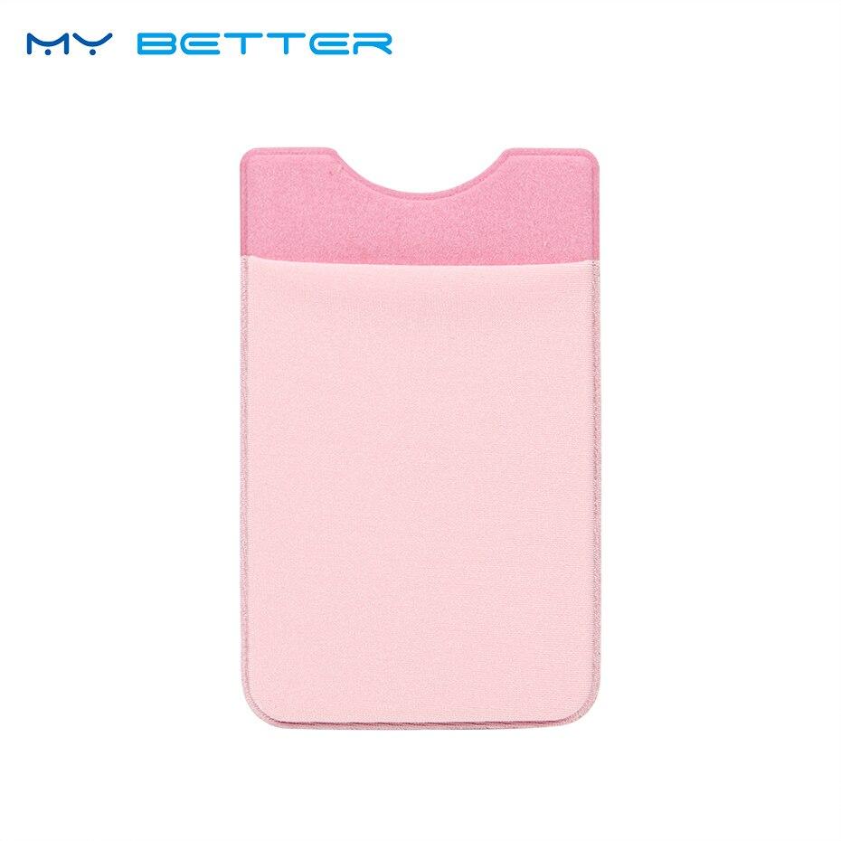 1 шт. эластичной лайкры карман для мобильного телефона держатель для карт карман для бумажника липкий клей Черный, серый цвет розовый золото... ...