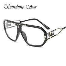 Pop Age Luxury Women Men Clear lens Glasses Steampunk Eyeglasses High quality Metal Plain glasses lunettes Oculos