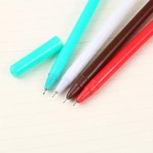 Image 4 - 40 قطعة القرطاسية الكورية عيد الميلاد ثلج جميل قلم محايد اللون الإبداعية إبرة الأسود قلم توقيع 0.5 مللي متر