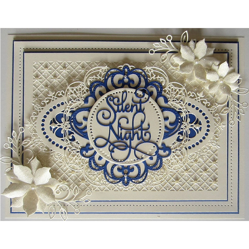 Noble Lace Flower Frames Borders Metal Cutting Dies Stencils for DIY Scrapbooking Crafts Embossing Paper Cards Making New 2018 frames and borders