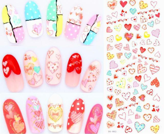 New Korean Nail Design Cute Cartoon Nail Patch Art Stickers Love