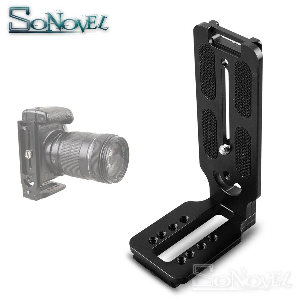 Quick Release Plate Aluminum Alloy L Shape Bracket Holder Camera Tripod Amount for Nikon D7200 D500 D750 D800 D800e D810 D850 D4 D4s D5 Z6 Z7