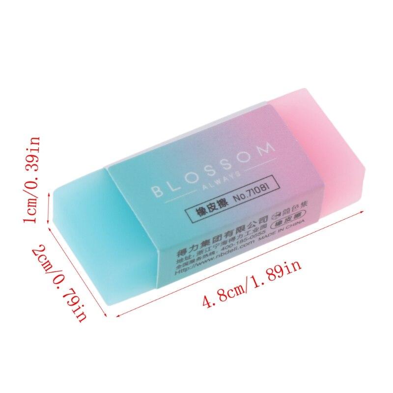 Мягкий Прочный гибкий куб милый цветной карандаш резиновые ластики для школьников