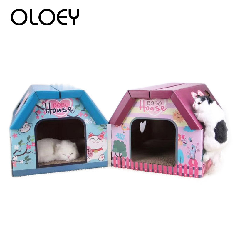 Hot Sale Cat House Big Cat Furniture Climbing Scratch Post Cat Jumping Toy with Ladder for Kittens House Play Toys Pet Product