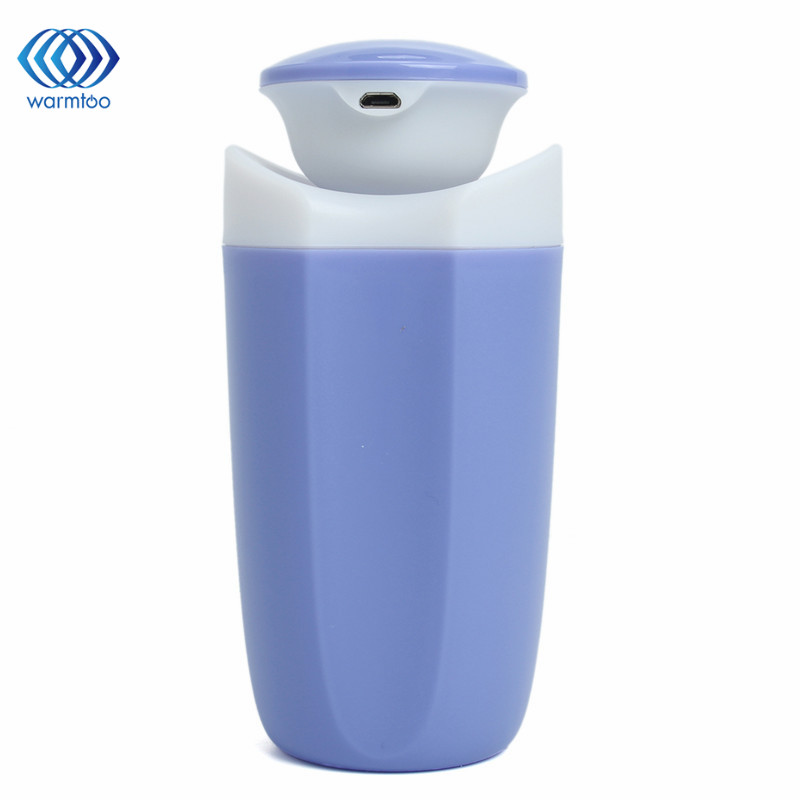 USB Mini Air Humidifier Bottle Included Air Diffuser LED lighting Purifier Atomizer For Desktop Car Home mini air humidifier