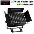Gigertop TP-W7203 72x3w RGBW Building Wall Led Wash light LCD Display DMX 3 PIN IN/OUT Socket Linear Dimmer Fan Cooling Barndoor