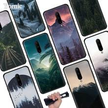 Scenery Mountain landscap Black Soft Case for Oneplus 7 Pro 7 6T 6 Silicone TPU Phone Cases Cover Coque Shell