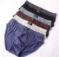 5 cái/lô bán buôn men bông quần lót cộng với kích thước người đàn ông thở của underwear tóm tắt quá khổ eo phẳng