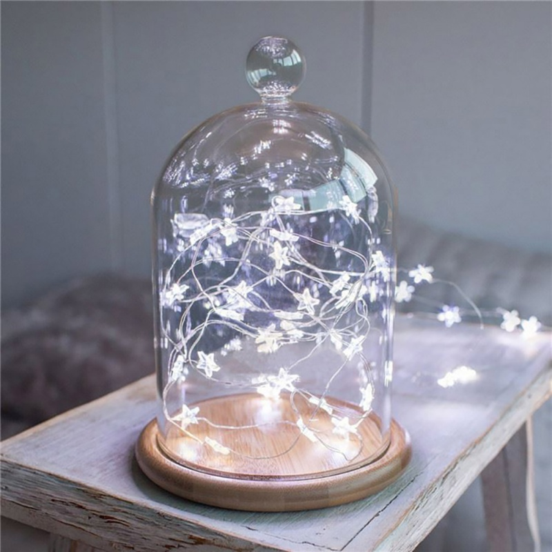 3M 30pcs LED Star Copper Wire String Lights LED Fairy Lights Christmas Wedding decoration Lights Battery Operate twinkle lights