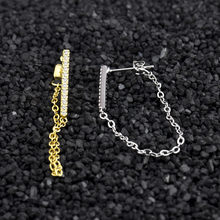 Trendy Long Chain Earrings Crystal Tassels Ear Jewelry Geometric Bar Stud Earrings Brand Jewelry Gifts For Women Girls(China)
