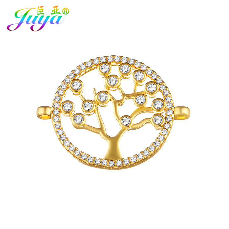 Handmade Jewelry Components Material Tree Of Life Charm Connector Accessories For Fashion Bracelets Neckalce Earring DIY Making