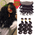 8A Brazilian Virgin Hair With Closure Ear To Ear Lace Frontal Closure With Bundles 3 Bundles Brazilian Body Wave With Closure