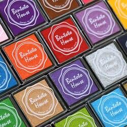 20 цветов DIY Скрапбукинг Винтаж ремесла чернил pad красочные учитель Inkpad штампы уплотнение украшения Штамп