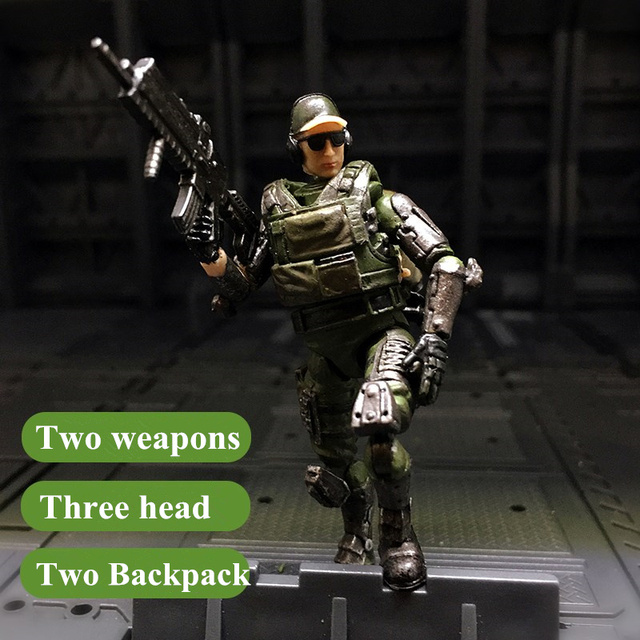 JOY TOY 1:27 action figures Assembly Special forces Soldiers' joints movable Military figure toys Free shipping SA-032