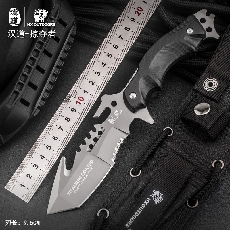 HX OUTDOORS straight knives survival knife hunting tools new 440c essential tool for self-defense army cold steel knife hx outdoors camping knife blade saber tactical fixed knife zero tolerance hunting survival tools cold steel straight knife