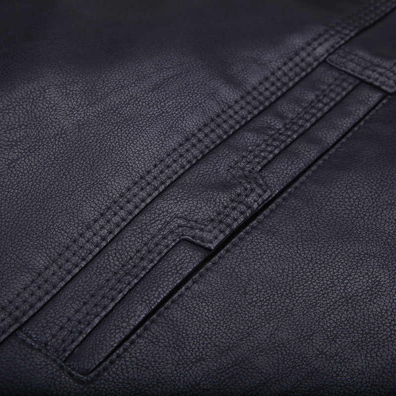 Abou abrigo de piel de invierno para hombre de alta calidad chaqueta de cuero de moda de piel Real forrado para hombre chaqueta de piel