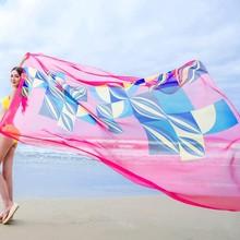 Летние Для женщин пляж саронги шифон шарфы геометрических Дизайн Купальник Cover Up платье плюс Размеры парео de playa Mujer