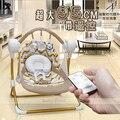 Plus tamaño del bebé eléctrica mecedora bebé columpio mecedora silla chaise lounge placarders cuna eléctrica cama de bebé