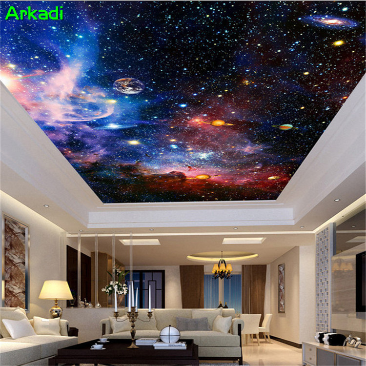 Custom Mural 3d Nebulae Night Sky Ceilings Wall Bedroom Tv