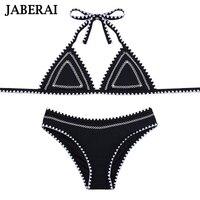 JABERAI Biquini 2017 Swimwear Women Bikini Set Strappy Halter Bathing Suit Hand Sewn Stitch Swimsuit Cross