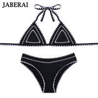 JABERAI Biquini 2017 Swimwear Women Bikini Set Strappy Halter Bathing Suit Hand Sewn Stitch Swimsuit Cross