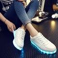 Led Luminoso 2017 Calzados informales Zapatos Led Para Hombres Adultos Moda LLEVÓ Las Luces de Arriba de Carga USB Zapato