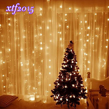 3M*3M 300LEDs LED Window Curtain Icicle Lights 8 Modes LED String Lights for Home, Garden, Wedding, Party  Decorations , CLD
