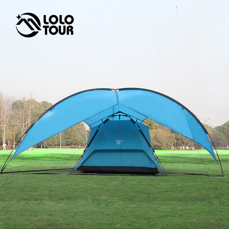 Large 5-8 People Awning Tent Outdoor Camping Hiking Family Picnic Event Barraca Gazebo Carpas Pergola Party Roof Top Tarp Tenda large outdoor camping pergola beach party sun awning tent folding waterproof 8 person gazebo canopy camping equipment
