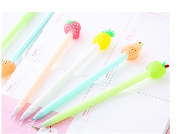 Online Shop Creative Glitter Fruit Pie Cute Gel Pen 0.38 Kawaii ... 039ca1b7e31f