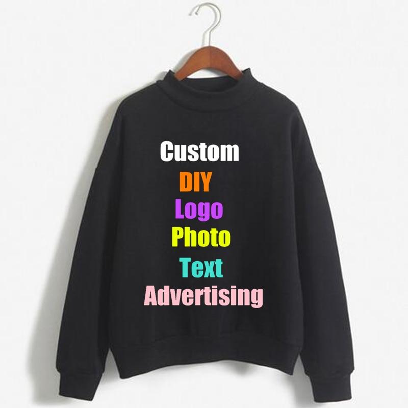 Custom Logo DIY Photo Print Solid Pullover Candy Color Coat Oversized Tracksuit Women Sweatshirt Female Hoody Ladies Top Hoodies