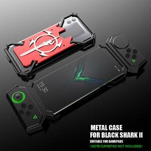 Image 1 - ADKO a prueba de choques de la armadura de dorso de metal para Xiaomi tiburón negro 1 2 Helo de aluminio espada Thor para Xiaomi Blackshark 2 Pro