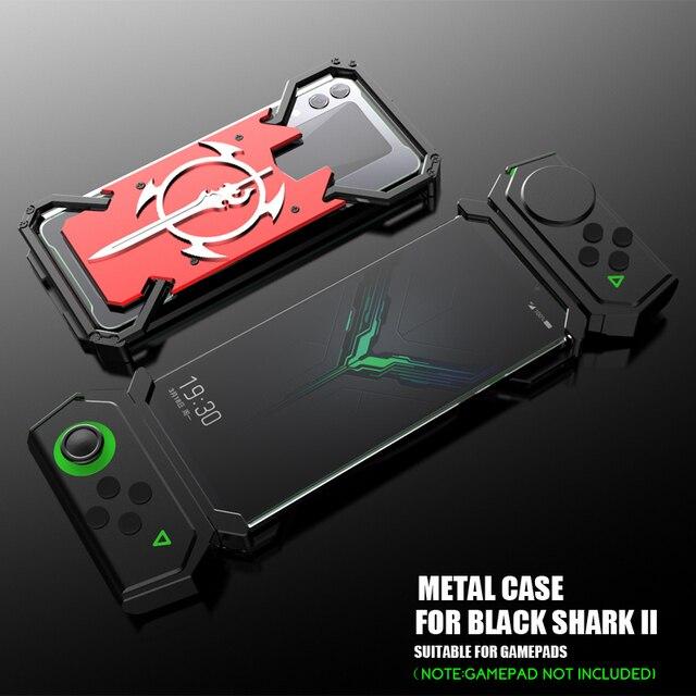 ADKO a prueba de choques de la armadura de dorso de metal para Xiaomi tiburón negro 1 2 Helo de aluminio espada Thor para Xiaomi Blackshark 2 Pro