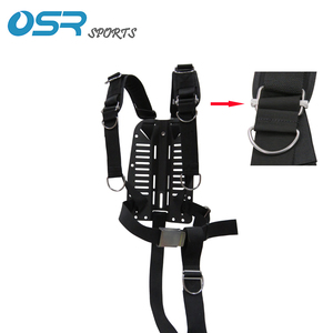 Image 1 - Scuba Diving Carbon Fiber Alu Aluminum Stainless Steel SS316 backplate with adjustable harness BCD back mount sidemount