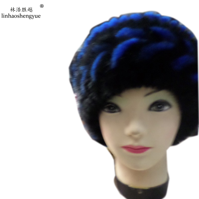 ФОТО Linhaoshengyue Advanced mink fur hat pattern warm in winter fashion cap freeshipping