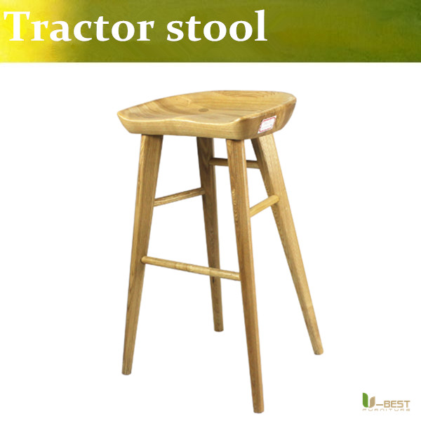 U BEST vintage bar stoolsTractor Contemporary Carved Wood Barstool NaturalCounter Height Stool