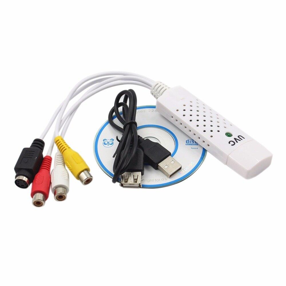 Высокое качество Портативный Easycap USB 2,0 аудио видео карты захвата адаптер VHS к DVD захвата видео конвертер для Win7/8/XP/Vista