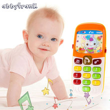 Abbyfrank Electronic Toy Phone Telephone Cellphone Baby Toy Mini Musical Children Phone Toy Early Education Cartoon Mobile Phone