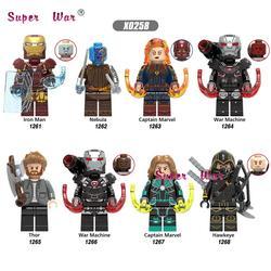 Один Мстители Endgame военная машина Железный человек Туманность Тор Марвел Капитан Hawkeye фигурку здания Конструкторы детские игрушки